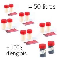 Super Pack 50 litres + 100 g d'engrais